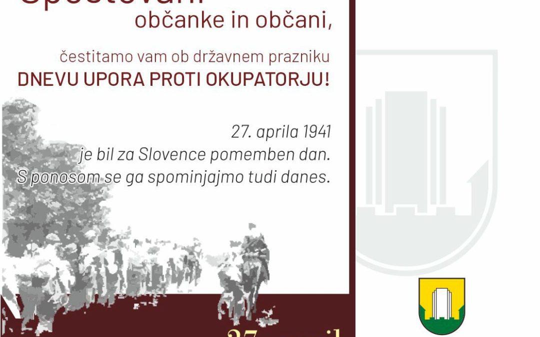 Sporočilo za javnost Mestne občine Velenje
