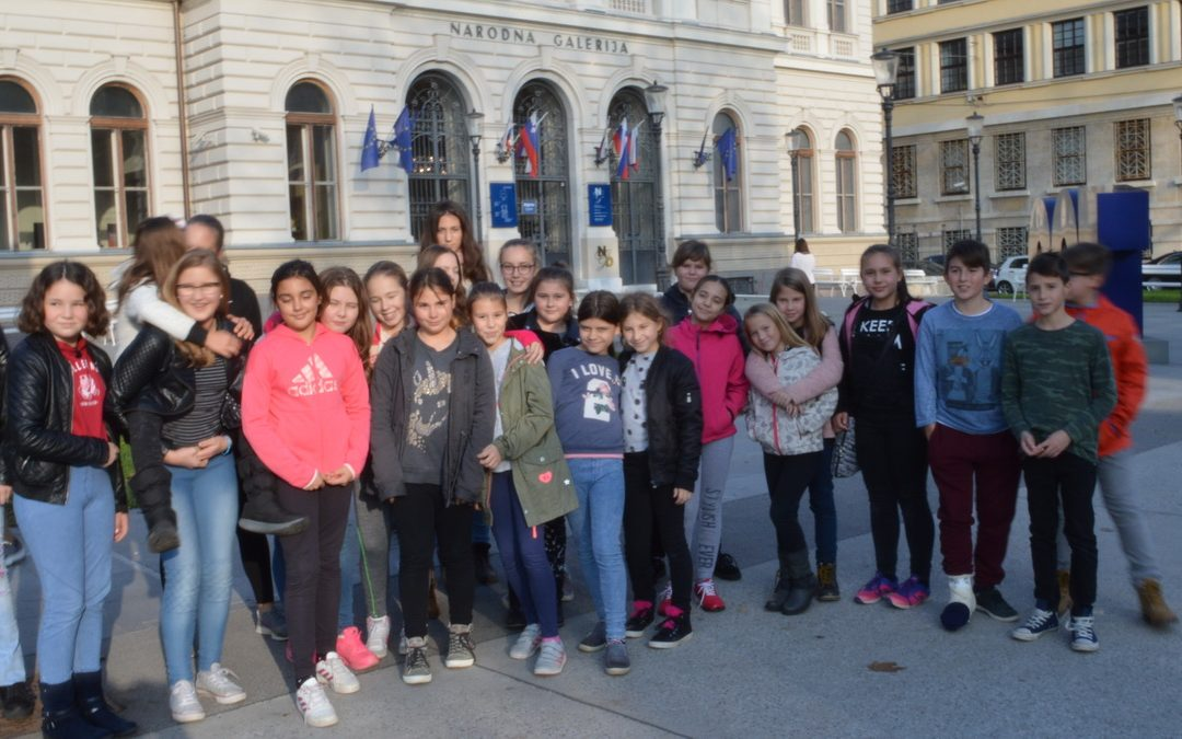 Učenci v Narodni galeriji