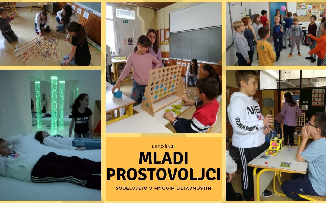 Mnogo dejavnosti za Mlade prostovoljce